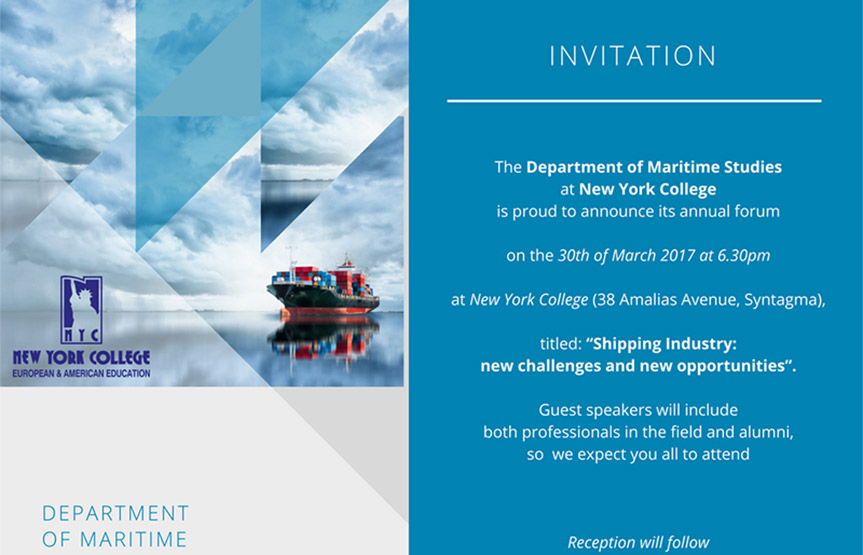 "MARITIME FORUM: ""Shipping Industry: new challenges and new opportunities"""