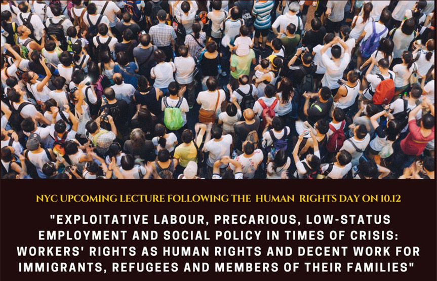 NYC upcoming lecture following the human rights day on 10.12