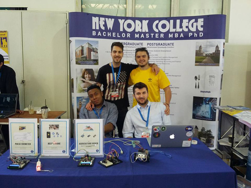 Athens Mini Maker Faire 2017, Η συμμετοχή του New York College